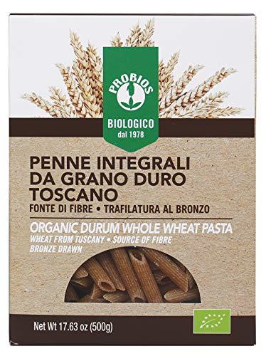 Probios Penne Rigate di Frumento Integrali Bio - 12 confezioni da 500 gr