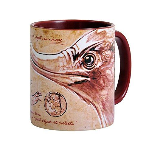 Elbenwald Phantastische Tierwesen Tasse Niffler Sketch Rundumdruck Keramik 320 ml braun