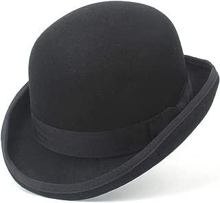 MengG Fedora da Uomo Classica New York del 1940 in Feltro per Uomo Cappello Panama 100/% Lana Cappello a Tesa Larga Vintage Marrone
