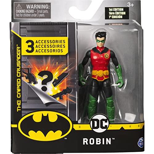 DC Comics- Batman - Robin, personaggio da 10 Cm con 3 Accessori Misteriosi, dai 3 Anni - 6056746