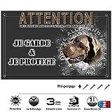 Pets-Easy.com Je Monte la Garde personnalisée Dogue Allemand Bleu - pré perforée et vis proposées. De 30 cm à 15 cm…