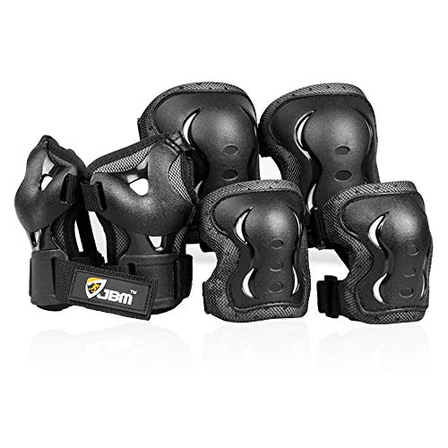 JBM Kids Knee and Elbow Pads with Wrist Guards Protective Gear Set, Impact Resistance for your Children Outdoor Activities