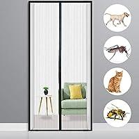 網戸 カーテン ドア用 80x235cm 昆虫を寄せ付けない スクリーンメッシュカーテン スクリーンドアを歩く までのドアサイズに適合, 黑 A