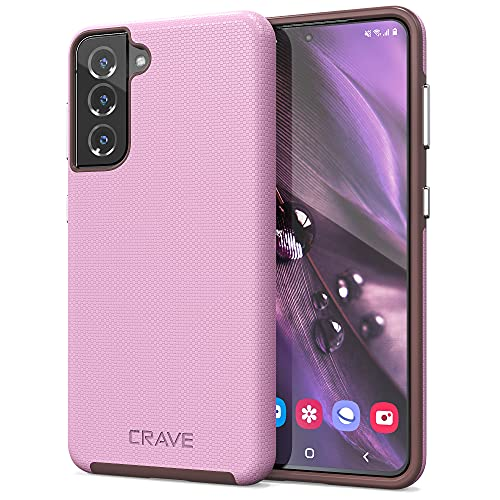 Crave Dual Guard for Galaxy S21 Case, Shockproof Protection Dual Layer Case for Samsung Galaxy S21, S21 5G (6.2 inch) - Lilac is $12.99 (57% off)