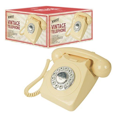 Benross 44530 Classic Retro Vintage Style Home Telephone - Cream
