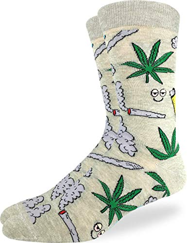 Good Luck Sock Men's Stoned Marijuana Socks, Adult