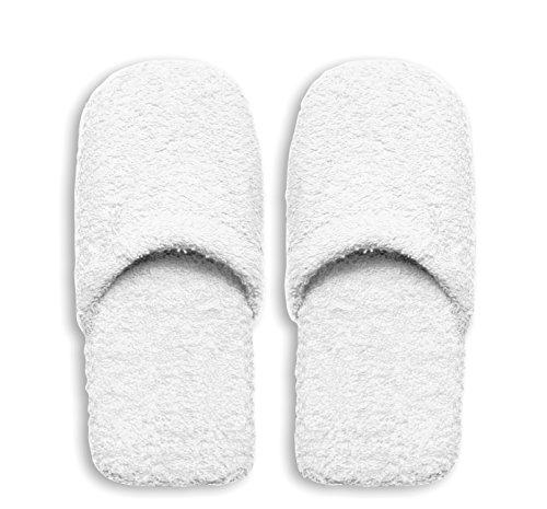 Excelsa Bagno Caldo Pantofole Da Uomo, Spugna, Bianco, 30x12x5 cm