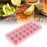 21 griglie cubetti di ghiaccio in silicone, cubetto di ghiaccio Ghiacciolo con coperchio per la preparazione di bevande fredde al whisky(rosa)