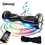 "BEBK Elektro Scooter, 6.5"" Hoverboard, Self Balance Scooter mit Bluetooth Lautsprecher, 2 * 250W Motor, LED Lights (Carbon) -"
