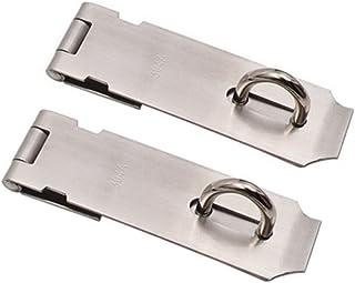Hebilla de puerta para equipaje cajas de madera pesadas Cierres de palanca de acero inoxidable de 2 piezas cierre de cerrojo de hardware de gabinete de muebles