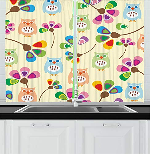 Colorful Owls Curtains