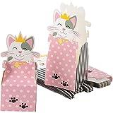 Cajas de regalo para fiesta de gato – Paquete de 24 cajas de papel con troquelado de princesa Kitty, 8,9 x 8,9x 20,3 cm