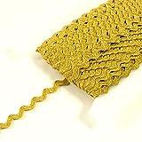 Stoffe Werning Zackenlitze Gold Glitzer 1,2 cm Accessoires