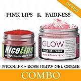 Lip Lightening Exfoliante Crema de cacao y Rose Equidad Crema Facial Gel Combo