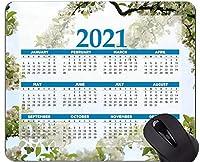 2021年カレンダーマウスパッド、花びらマウスパッド
