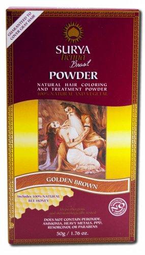Surya Brasil Henna Haarverf Poeder Goud Bruin, 50 g