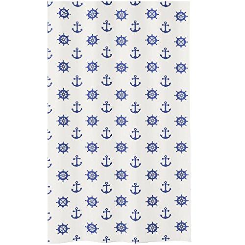 Meusch Duschvorhang Sailor, Plastik, Dunkelblau, 40 x 30 x 10 cm, 1 Einheiten