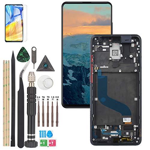 YWL-OU Compatible con AMOLED Xiaomi Redmi K20/K20 Pro/Mi 9T/Mi 9T Pro Pantalla LCD de repuesto y digitalizador de pantalla táctil con herramientas (negro con marco)