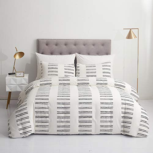 GETIANN Soft Bedding Duvet Cover Set Lightweight Microfiber Queen Comforter Cover with 2 Pillow Shams Hotel Quality (Road, Full/Queen)