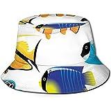 William Bacon Gorra de Pescador, Tipos de Criaturas Marinas con Imagen de pez Cirujano de Bacalao atlántico con Paleta, Sombrero de Playa de Viaje