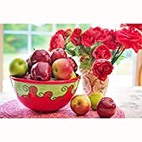 自然の新しい静物の赤いりんごの花の困惑500、1000、1500、2000、3000の部分、木の古典的な困惑、大人および子供のための教育おもちゃ、創造的なギフト。 0121 (Color : No Partitions, Size : 4000 pieces)
