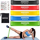Panathletic Resistance Bands, Set of 5 Bands  5 Different Resistance Levels, Exercise Guide, eBook, Carry Bag  5X Booty Loop Band for Butt and Legs Women - Fitness Stretch Band for Workout Men