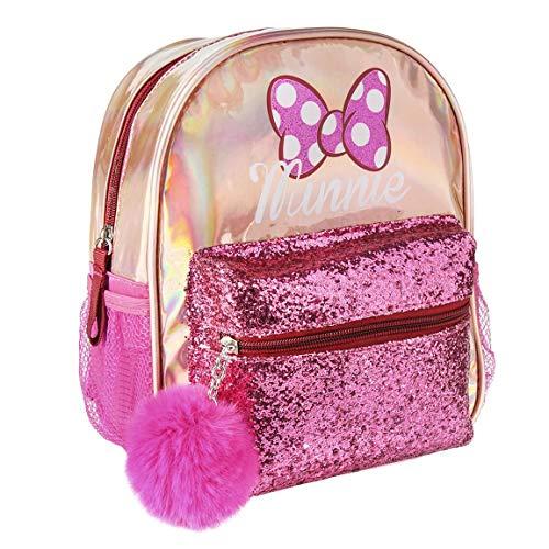 Disney | Minnie Mouse 3D Kinder Tasche Rucksack Großartig Für Feiertage Und Den Schulanfang (Minnie Mouse Holografisch Rucksäcke)