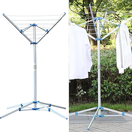 Homekind® FREE STANDING PORTABLE 4 ARM 50 METRES DRYING SPACE LAUNDRY CLOTHES AIRER INDOOR OUTDOOR WASHING LINE