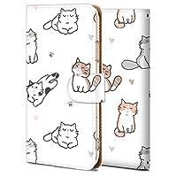 Android One S5 ケース 手帳型 アンドロイド ワン S5 カバー おしゃれ かわいい 耐衝撃 花柄 人気 純正 全機種対応 かわいい猫の群れ アニマル かわいい アニメ 9273861