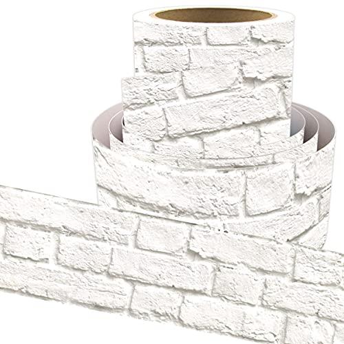 White Brick Bulletin Board Border Straight Border Trim for Classroom Decoration 36ft
