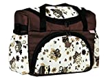 BABYLUX Wickeltasche Kinderwagentasche für Windeln Flaschen für Kinderwagen (41. Braun + Eule Beige)