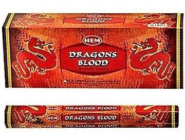 Incienso Hem - Dragon´s Blood - 6 cajas de 20 varillas -