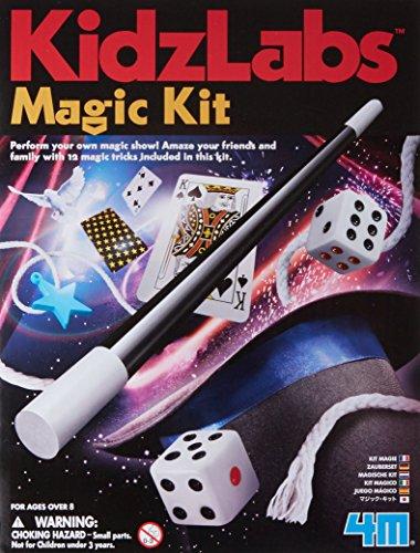 4M Kidzlabs Magic Kit - Learn DIY 12 Magician Tricks & Illusions Gifts for Kids, Boys & Girls