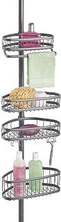 mDesign étagère de douche sans perçage – rangement de douche en métal extensible en hauteur – serviteur de douche avec 4 p...