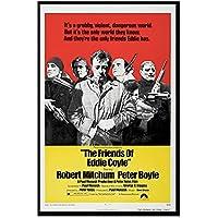 GZSBYJSWZ エディ・コイルの友人たち(1973)クラシック映画ネオノワール映画レトロヴィンテージポスターキャンバス壁アート写真家の装飾ギフト-50X70Cmx1フレームなし
