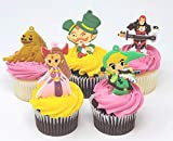Zelda Birthday Cupcake Cake Party Favor Set Featuring Link and Friends