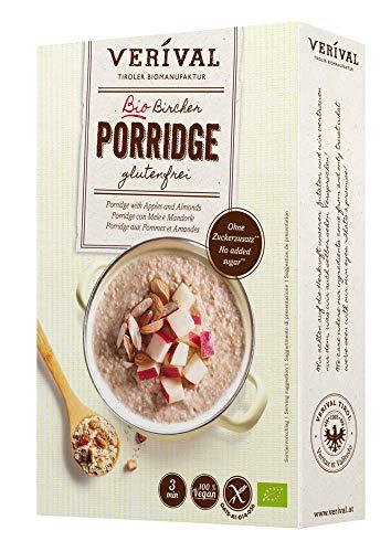 Verival Bircher Porridge Glutenfrei   350g Einzelpackung   vegan   ohne Palmöl   glutenfrei   ohne Zuckerzusatz   hangefertigt in Tirol