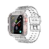 Compatible for Apple Watch Band 38mm 40mm with Bumper Case, Watch Bands for iWatch Series 6 5 4 3 2 1 SE Women Men, Sport Military Drop Shock Resistant Case