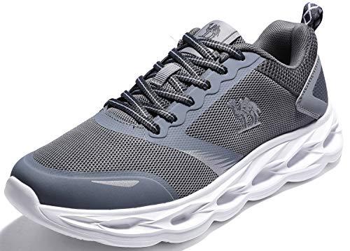 CAMEL CROWN Sportschuhe Herren Freizeit Mode Sneaker Laufschuhe Turnschuhe Leichte Bequeme Running für Männer Jungen Sport Gym Fitnessschuhe, Grau, 45 EU