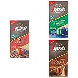 Segafredo - 30 Capsule Compatibili Nespresso, Linea Le Origini Gusto Perù, Brasile e Costa Rica - 3 Astucci da 10 Capsule