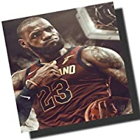 レブロン・ジェームズ クリーブランド・キャバリアーズ デザインB 海外製 NBAグラフィックアートパネル 木製 壁掛け ポスター インテリア
