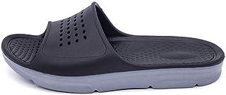 Men's Shoes-Leisure Pool Slides Sandals for Men Indoor Water Slippers Casual Slides EVA Sole Slip On Open Toe Anti Slip Lightweight Comfortable (Color : Black, Size : 50 EU)