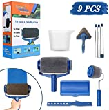 Wall Printing Brush kit WeekSun Paint Roller Brush Kit with Paint Runner Pro Brush, Wall Printing Brush, 3 Telescopic Poles, Handle Flocked Edger Painting Walls and Ceilings for Room Home Office