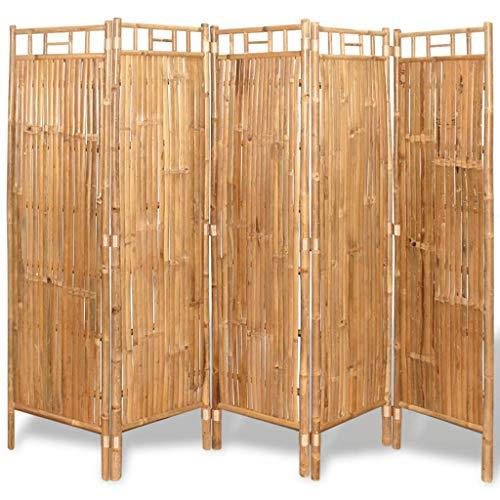 vidaXL Panel de Valla de Bambú Marrón 180x170 cm Separador
