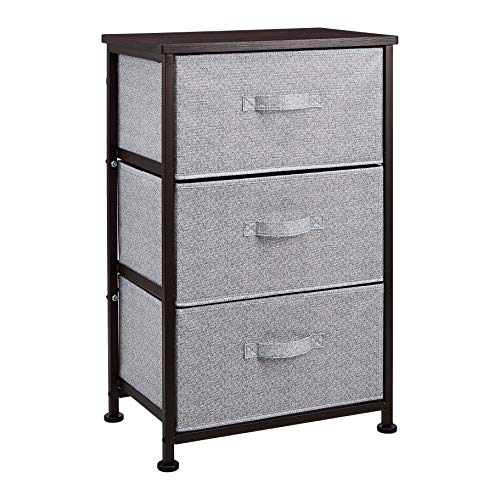 AmazonBasics Fabric 3-Drawer Storage Organizer Unit for Closet, Bronze