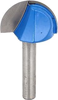 uxcell U溝ルータービット カーブボックスビット ストレットシャンクコア 木製作業ツール 2フルート 0.6 x2.54cm