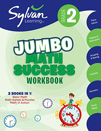 2nd Grade Jumbo Math Success Workbook: 3 Books in 1--Basic ic Math, Math...