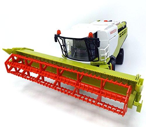 Brigamo Spielzeug Mähdrescher Fahrzeug mit Anhänger, 37 cm