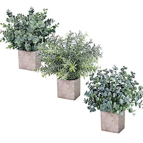 仿真装饰绿植盆栽 3件套