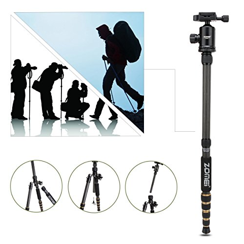 ZOMEI Z669C Carbon Fiber Portable Tripod with Ball Head Compact Travel for...